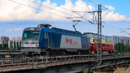 【段修试运转】HXD3B0159+DF4D0049沈局锦段 通过锦州小凌河桥
