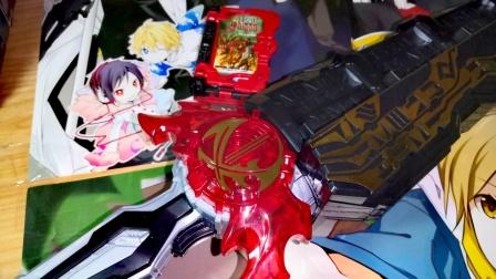 武器和腰带一起卖,不愧是万代!  [真相模玩]假面骑士圣刃DX  Saber 驱动器