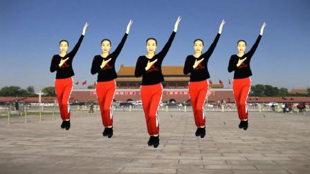 励志正能量广场舞《我的国》歌声豪迈大气舞步简单好看附教学