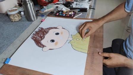 少儿卡通人物画示范之二
