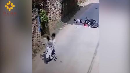 11岁女孩骑单车被人恶意拽倒 家属:和肇事者素不相识
