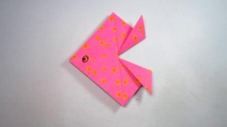 手工折纸小鱼,简单又可爱,2分钟学会