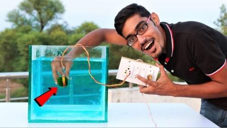 在水下电点炮会怎样?小哥作死测试,结果震撼全场!