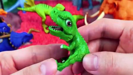 搭建侏罗纪世界放置恐龙