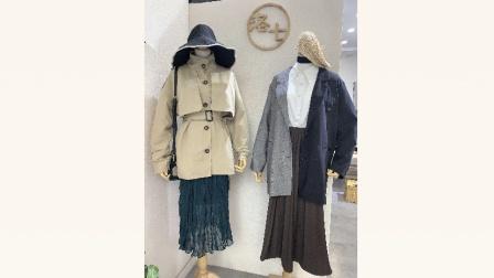 (已抢完)洛七女装2020年韩国款秋冬季毛衣连衣裙外套大衣秋冬款新款特价36.8元超低价