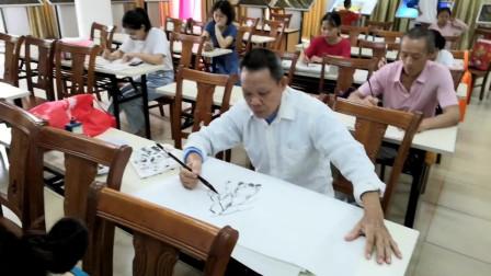 儋州市文化馆公益国画班学习剪影之三