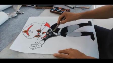 少儿卡通画黑猫警长作画步骤讲解示范