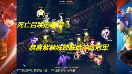 梦幻西游:170联武神坛,紫禁城(胜) VS 生日快乐,总决赛