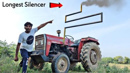 趣味实验:小哥改造拖拉机排气筒,启动后震撼全场!