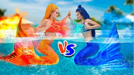 冷美人鱼VS火美人鱼,两人只为争抢一个男友,结果谁能成功呢?
