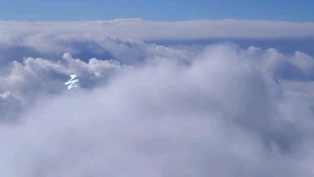 云雾缭绕的蟠龙山