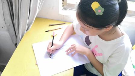 儋州市第二中学初一年级(3)班第一次美术课作业剪影