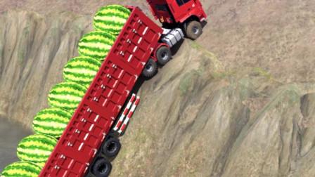 大货车掉入悬崖,幸好爬上来了