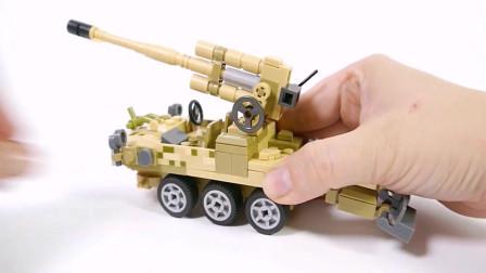 拼装军用汽车玩具