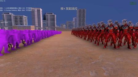 史诗战争模拟器:捷德奥特曼VS紫色巨人士兵