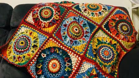 【金贝贝手工坊 288辑】M95时间之沙拼花毯(上) 毛线钩针编织成人空调毯 儿童盖毯 宝宝毯子