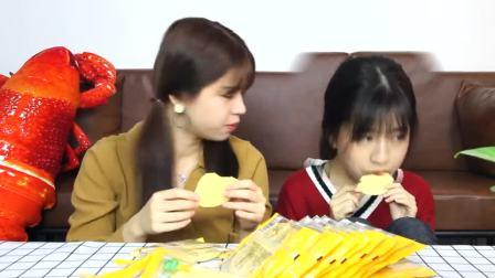 吃播小姐姐试吃玉米饼,吃货在美食面前智商为0?把浙江当北方