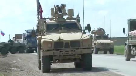 叙利亚战场实录:美俄两军车队对峙相距不足50米,叙利亚儿童朝美军装甲车投掷石块