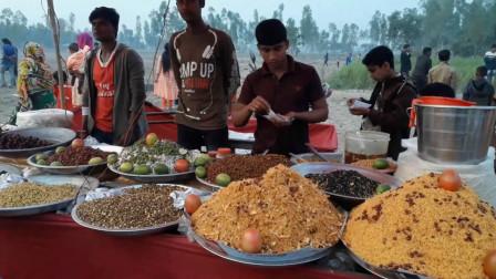 印度街头零食集市,十几种配料随意搭配,开挂民族总是超出想象!