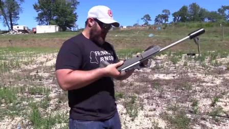小口径.22lr自动步枪,户外靶场射击实测,这威力有点不尽人意