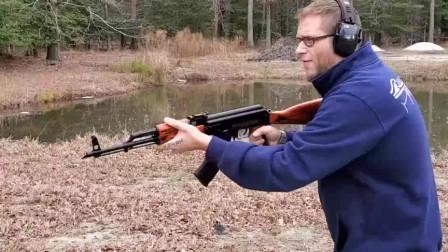 性能可靠,简单又抗造的AK-47突击步枪,户外靶场射击测试