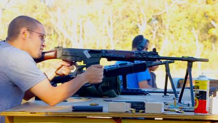 FAL突击步枪靶场实弹射击测试,性能可靠、唯一缺点就是后坐力大