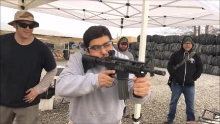 靶场实弹射击各类热武器,不查资料你能认出几款枪名?