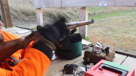 靶场试射M1伽兰德步枪,这不紧不慢的射击速度让人抓狂!
