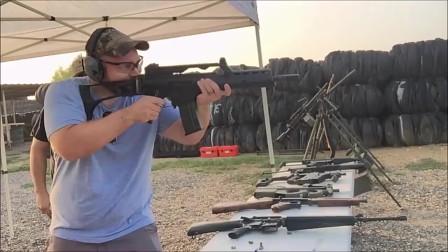 靶场试射各类热武器,论射速最后的MG3通用机枪能排第一