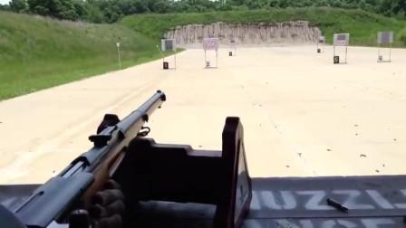 靶场试射瑞士施密特-鲁宾M1911直拉式栓动步枪,K31的前身就是它