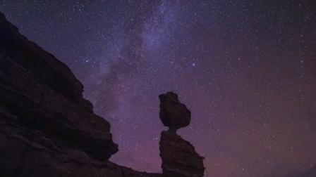 新疆克拉玛依夜景星空