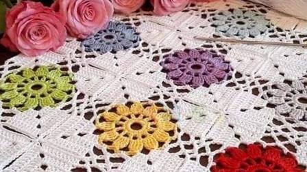秋季最受欢迎的手工钩针拼花毯,新手也能出成品的视频教程