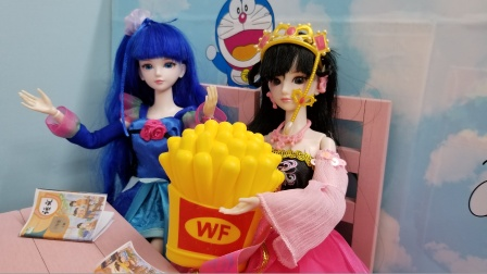 叶罗丽故事 罗丽赢来的薯条,跟冰公主一起分享哟,真棒!