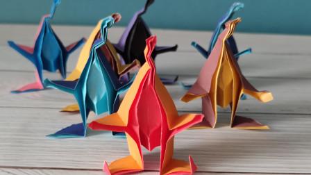 漂亮的立体小精灵折纸手工教程,可爱生动又抽象风,这也太惊喜了