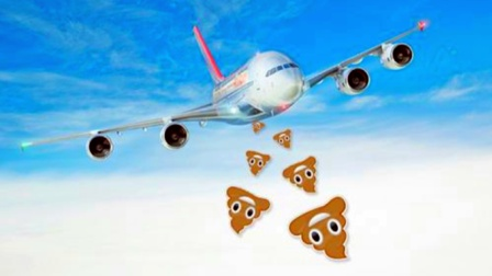 """飞机厕所中的排泄物都去哪里了?是在天上""""一泻千里""""吗?"""