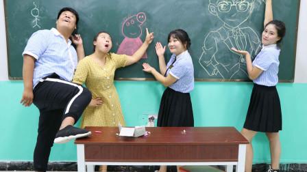 学霸王小九校园剧:老师让画出自己喜欢的动漫人物,学生画的一个比一个厉害,太逗了