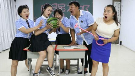 学霸王小九校园剧:老师让学生比赛转呼啦圈,转的最多的有奖励,老师的奖励太有爱了