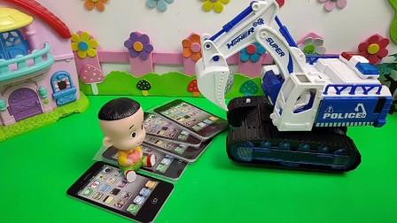 大头又欺负乔治,乔治的挖掘机能变成金刚机器人吗?