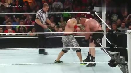 WWE:布洛克的木村锁被破解,塞纳用锁喉报复布洛克,太残忍了