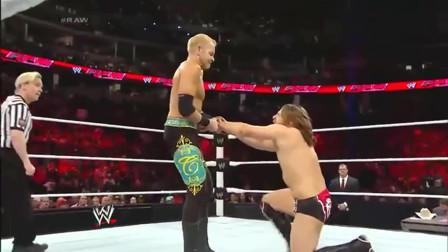 WWE:丹尼尔不愧是冠军,在绝对实力面前,黄毛没有任何获胜的希望