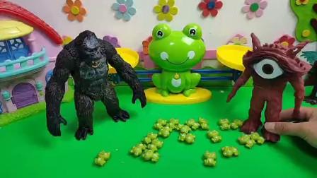 大怪兽来了,佩奇乔治变成了小青蛙!