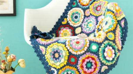 【金贝贝手工坊 291辑】M97小花砖拼花毯(下)毛线钩针编织儿童毯 手编成人盖毯 婴儿毯子视频教程