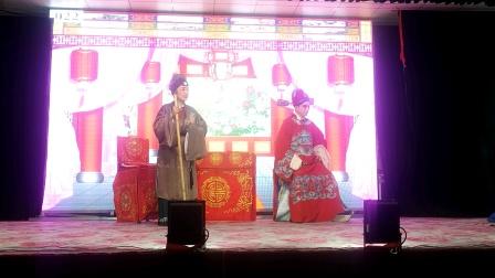 武汉市春霞青年楚剧团团长段春霞和署名优秀青年演员杜文华演出历史朝廷戏刘庞悔母选段