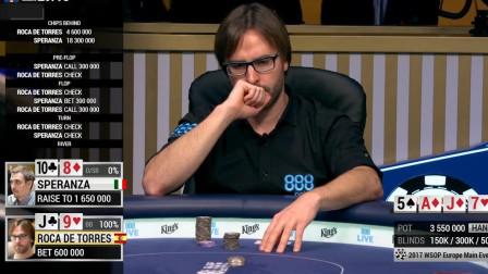 德州扑克:看大神决赛精彩单挑,偷鸡你一定得讲得通故事