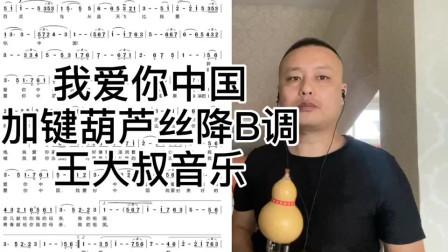 《我爱你中国》加键葫芦丝降B调演奏,双节快乐祝愿祖国繁荣富强