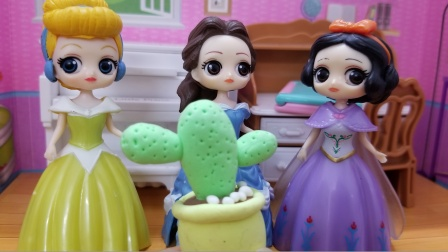 白雪公主故事 贝儿弄丢了白雪送她的仙人掌,刚好被灰姑娘捡到了
