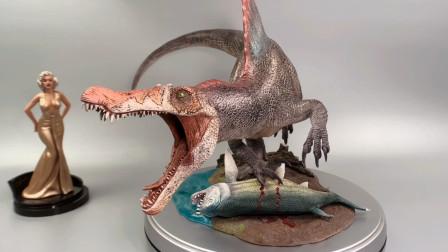 侏罗纪公园3 怪兽恐龙! 飞马棘龙 雕像手办 .介绍分享!【布说模玩003】