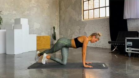瑜伽体式训练,腿部伸展拉伸燃脂,塑型打造S型身材