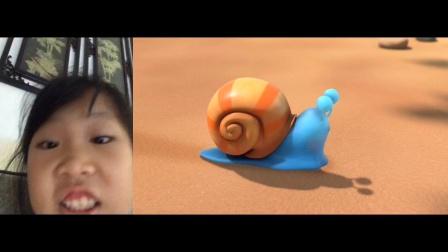 萌鸡小队 英文 跟蜗牛打招呼