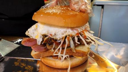 香肠吐司汉堡-韩国街头食品